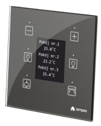 MDOT-6LCD, panel with 6 touch fields and LCD screen