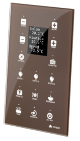 MDOT-15LCD, panel with 15 touch fields and LCD screen